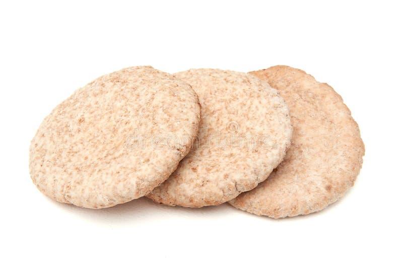 全麦皮塔饼面包 免版税库存图片