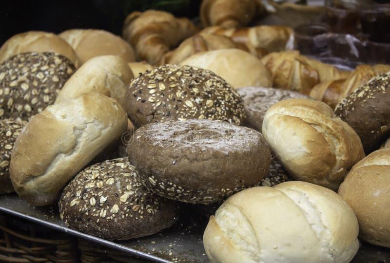 全麦面包小圆面包 库存照片
