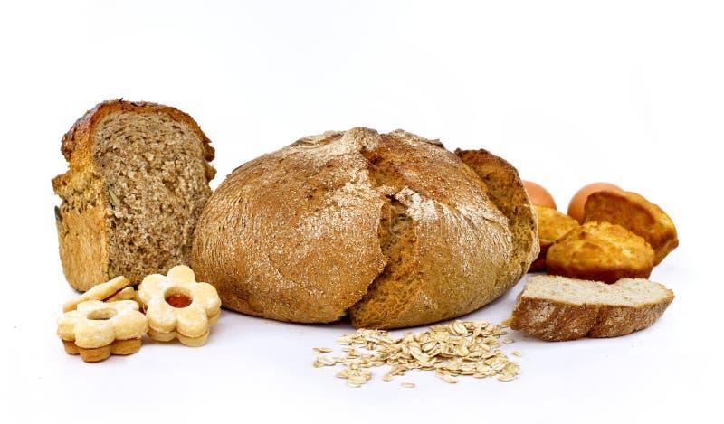 全麦面包的曲奇饼 免版税库存照片