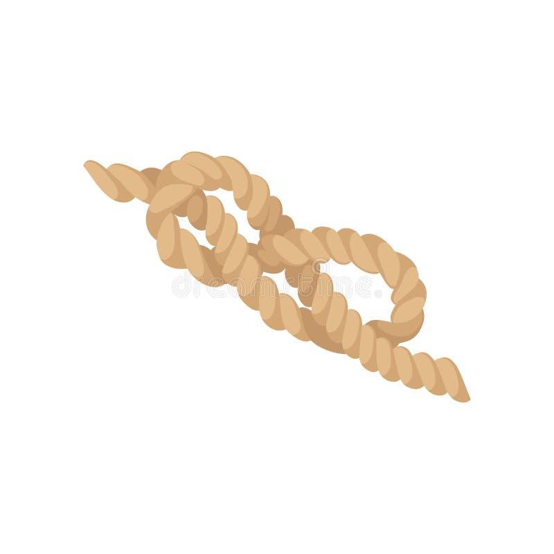 八个结,黄麻串绳索传染媒介例证 向量例证