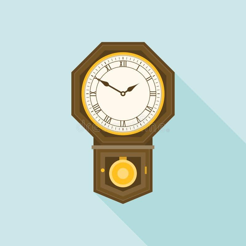 八角形物形状的壁钟 库存例证