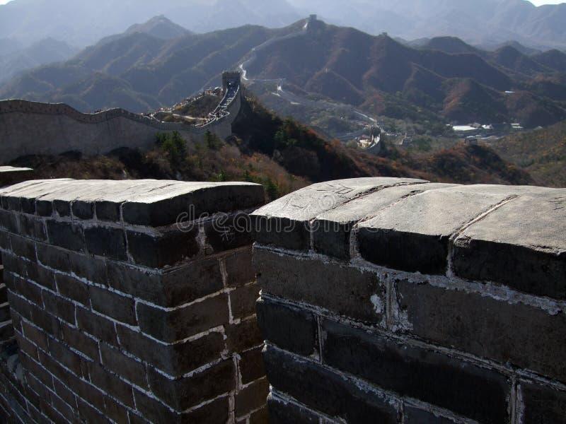 八达岭的北京长城 免版税库存图片