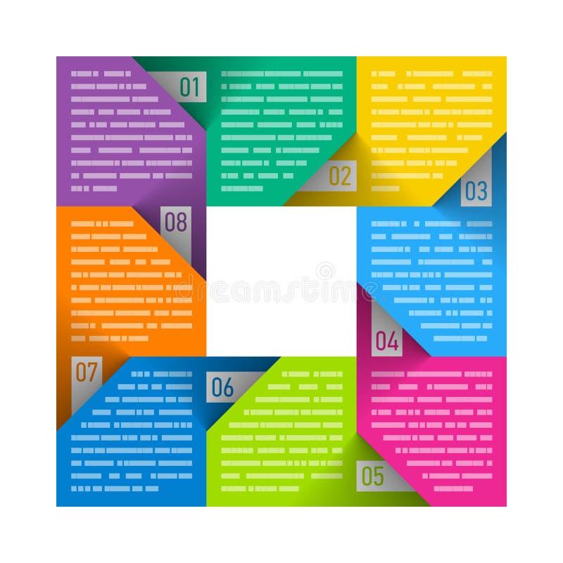 八部分周期图模板 库存例证