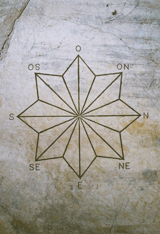 八针对性的星和基点 库存照片