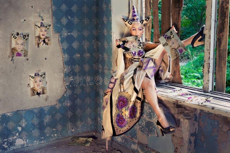 公主视窗 库存照片