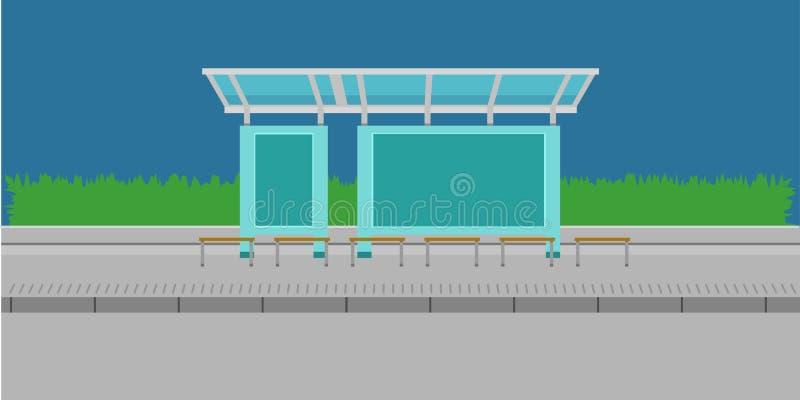 公交车站驻地传染媒介例证eps10 库存例证
