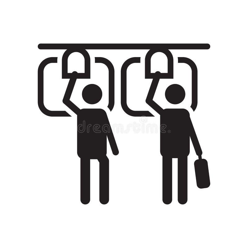 公共交通工具象在白色背景和标志隔绝的传染媒介标志,公共交通工具商标概念 向量例证