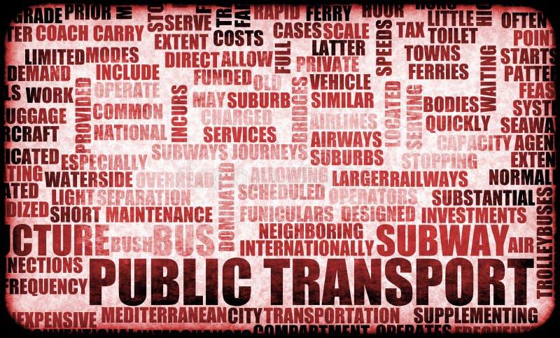 公共交通工具 库存例证