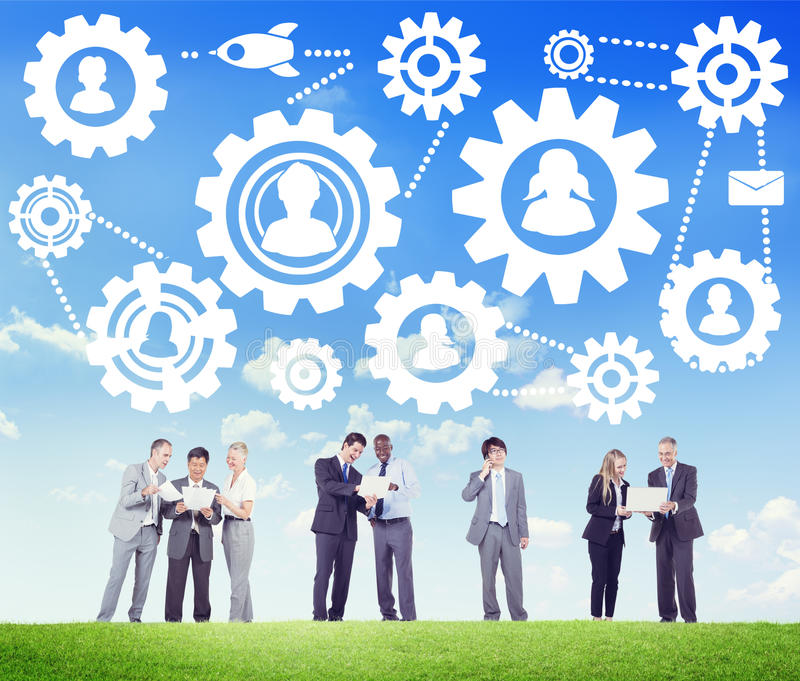 公共企业合作合作支持概念 库存图片