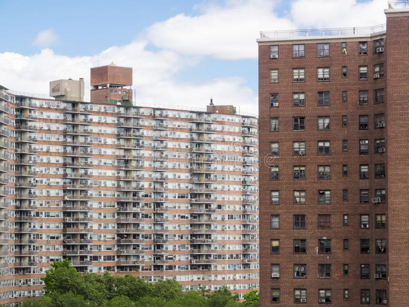 公共住房在纽约,美国 库存照片