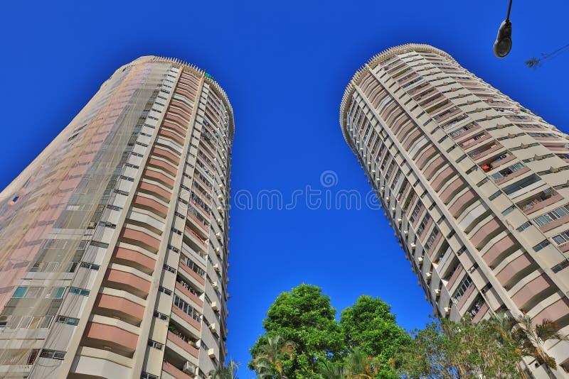 公共住房庄园在香港 免版税库存照片