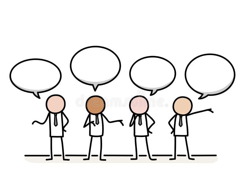 公共关系通信概念 向量例证