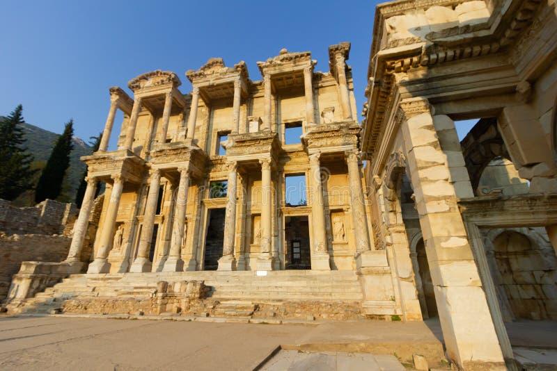 公共场所一个世界遗产ephesus图书馆在历史名城土耳其 库存图片
