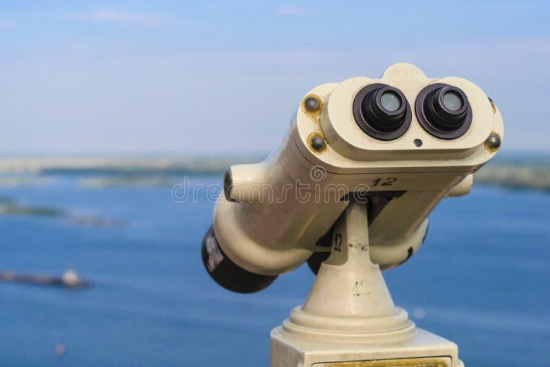 公共望远镜 库存照片