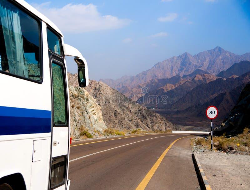 公共汽车乘坐路 免版税库存图片