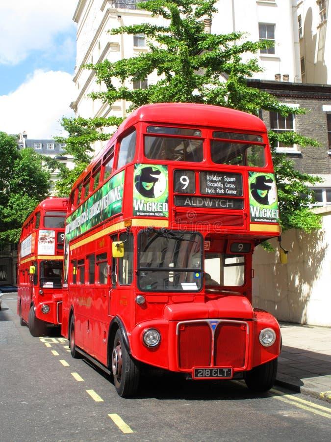 公共汽车分层装置双伦敦红色 免版税库存照片