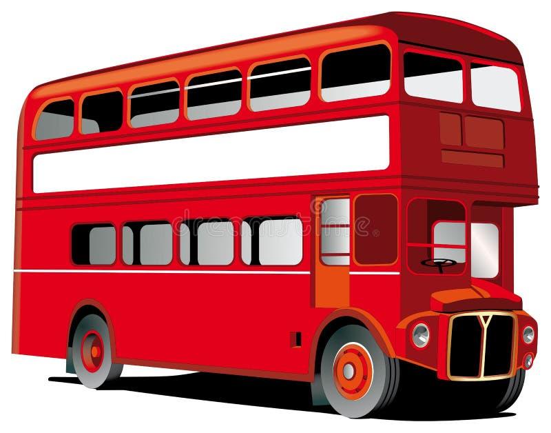 公共汽车分层装置双伦敦 库存例证