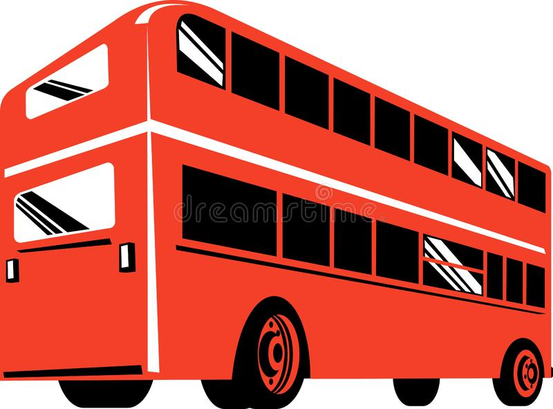 公共汽车分层装置双 库存图片