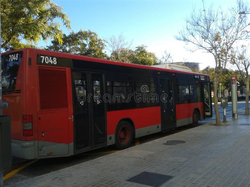 公共汽车在西班牙 免版税库存照片