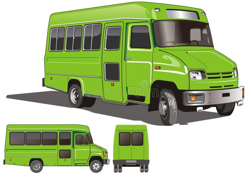 公共汽车城市微型向量 皇族释放例证