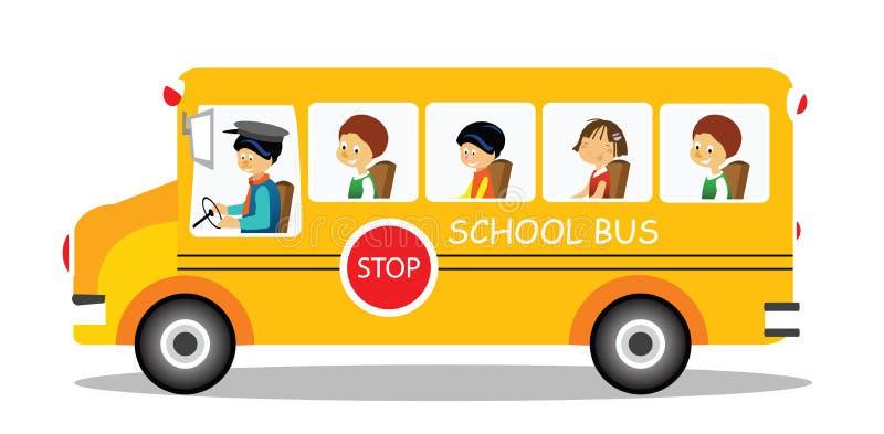 公共汽车学校 皇族释放例证