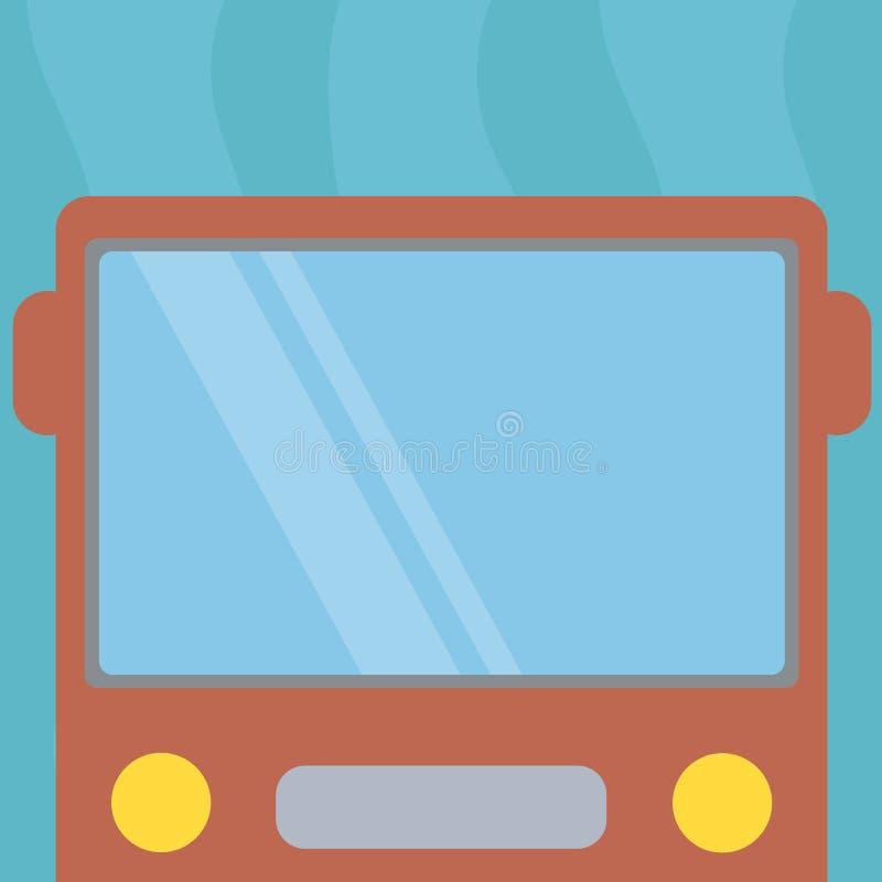 公共汽车广告网站被隔绝的拉长的平的正面图的设计企业概念空的模板拷贝空间文本有空白的 向量例证