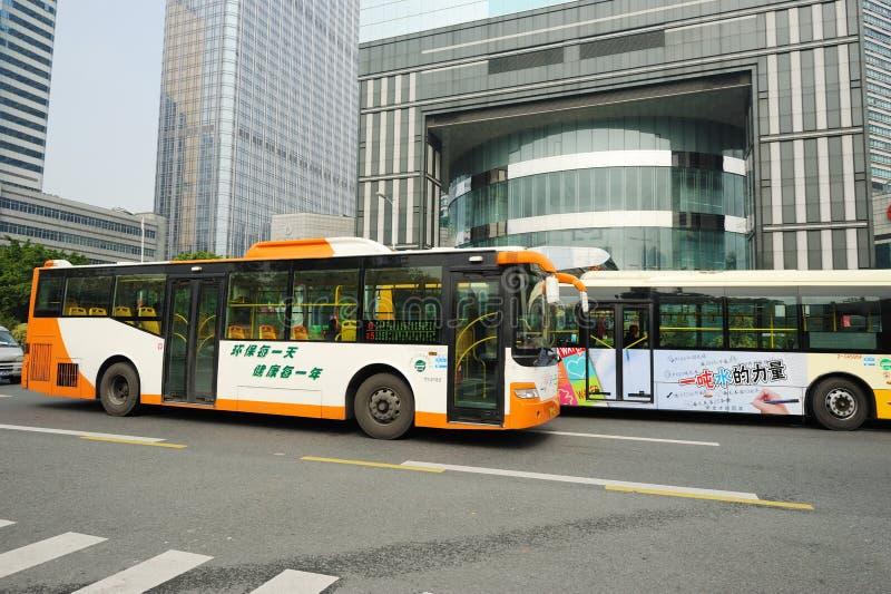 公共汽车广州 库存照片