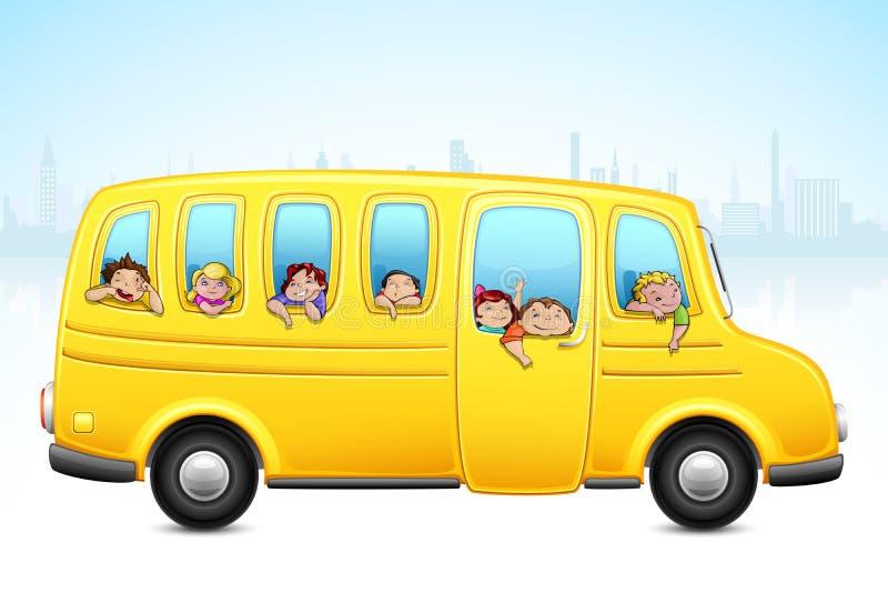 公共汽车开玩笑学校 向量例证