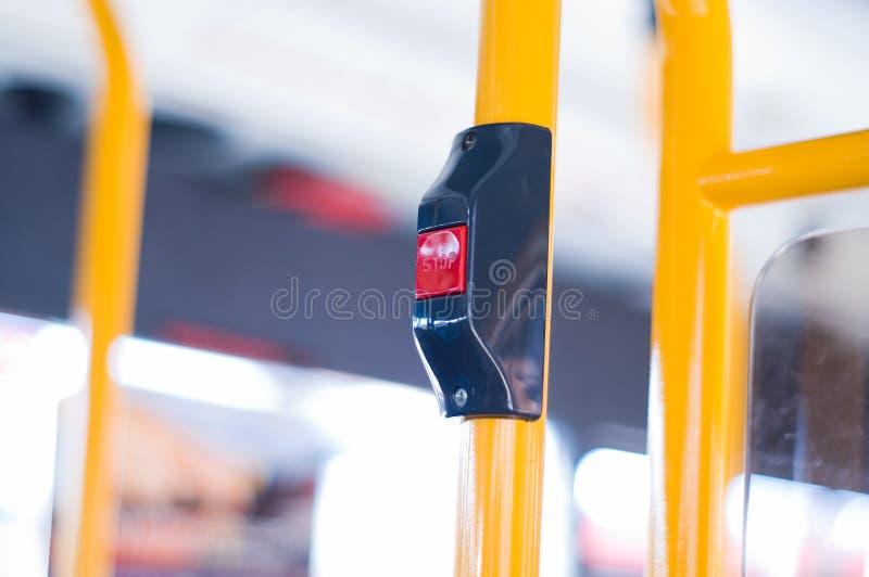 公共汽车按钮终止 免版税库存图片