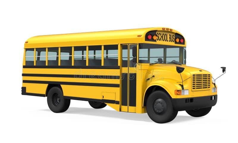 公共汽车查出的学校 皇族释放例证