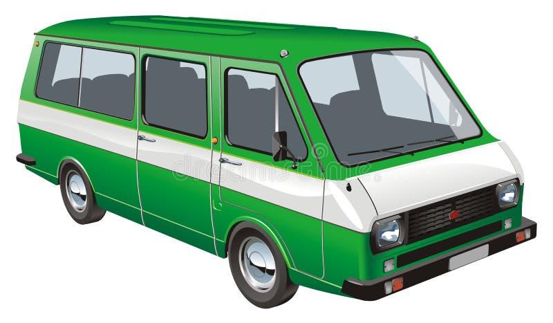 公共汽车查出的微型向量 向量例证