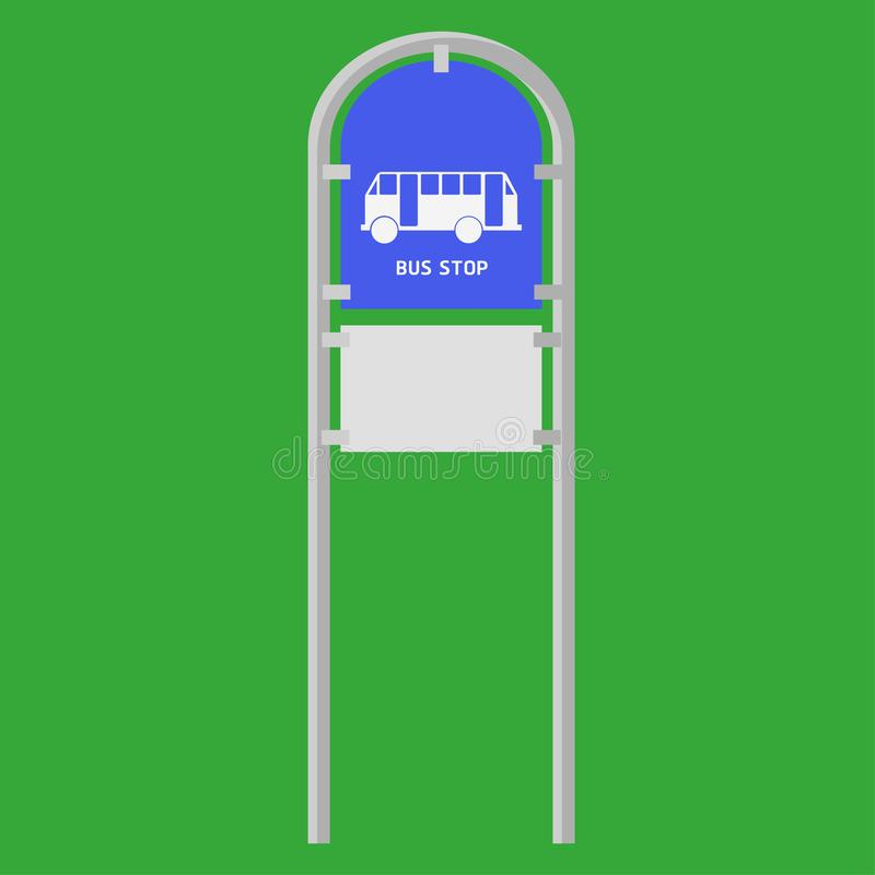 公共汽车标志停止驻地传染媒介例证eps10 向量例证