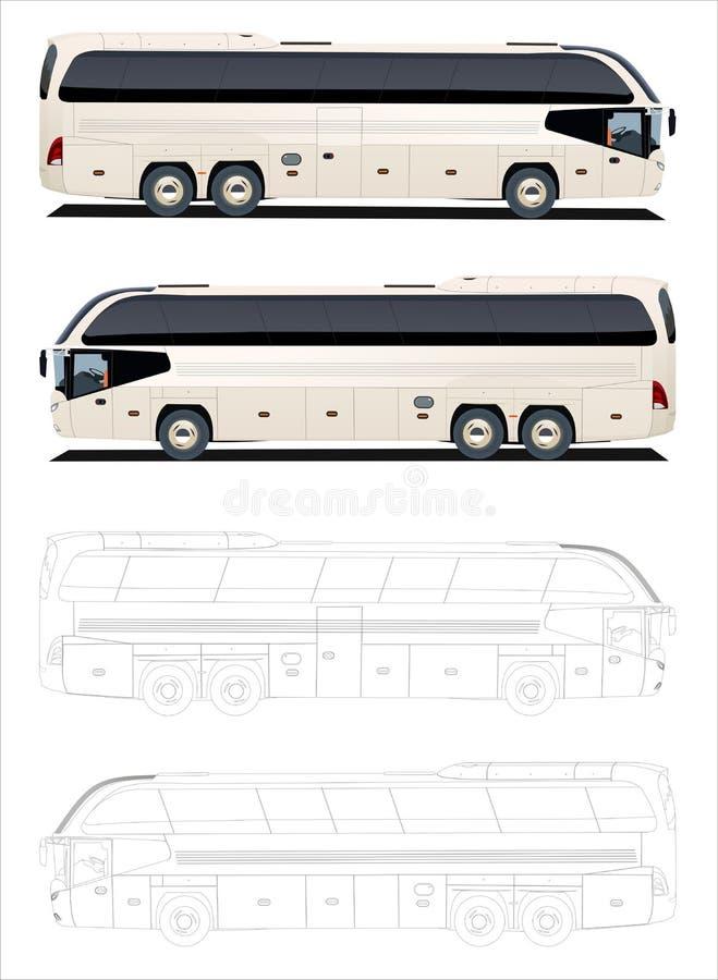 公共汽车浏览 向量例证