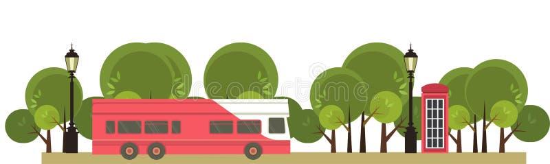 公共汽车游览 向量例证