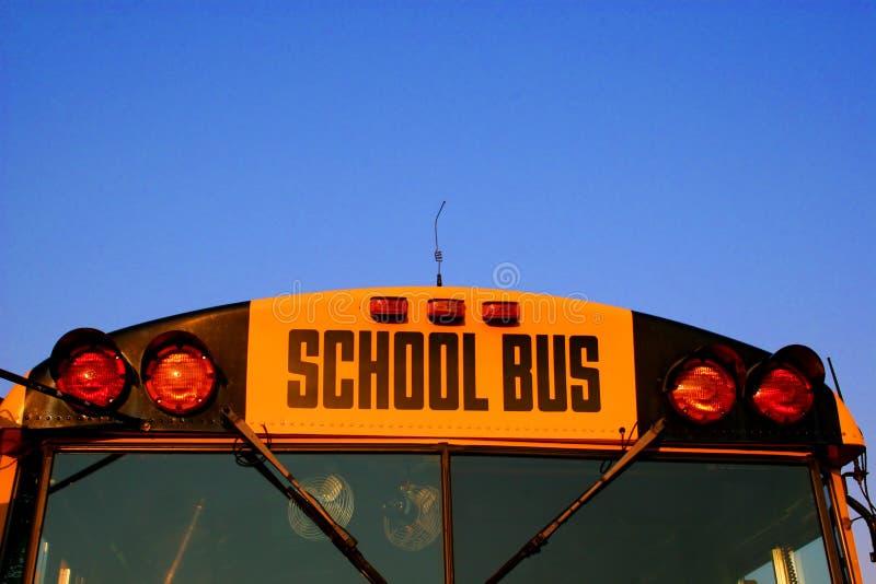公共汽车特写镜头学校 免版税图库摄影