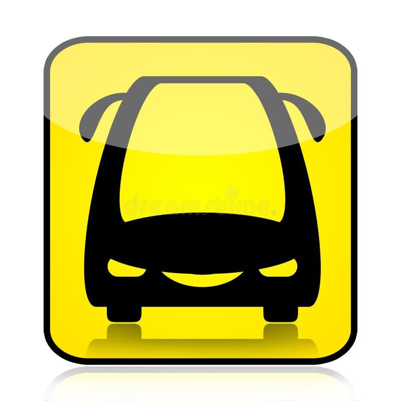 公共汽车现代符号 库存例证