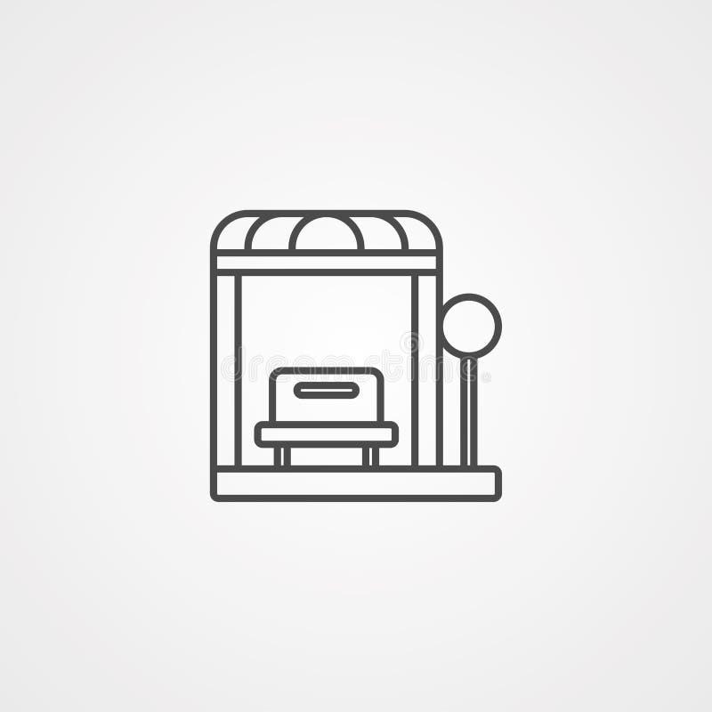公共汽车站传染媒介象标志标志 皇族释放例证