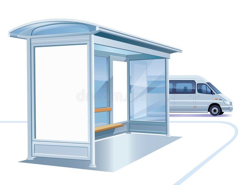 公共汽车站 皇族释放例证