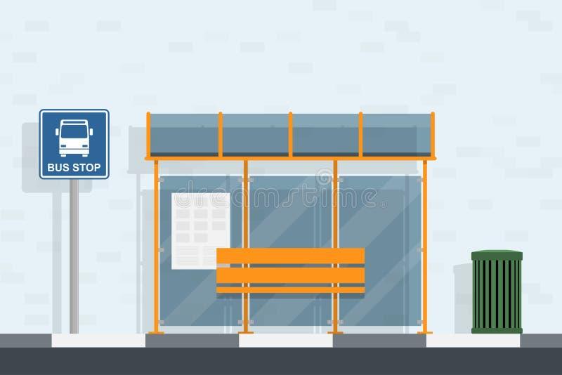公共汽车站 向量例证