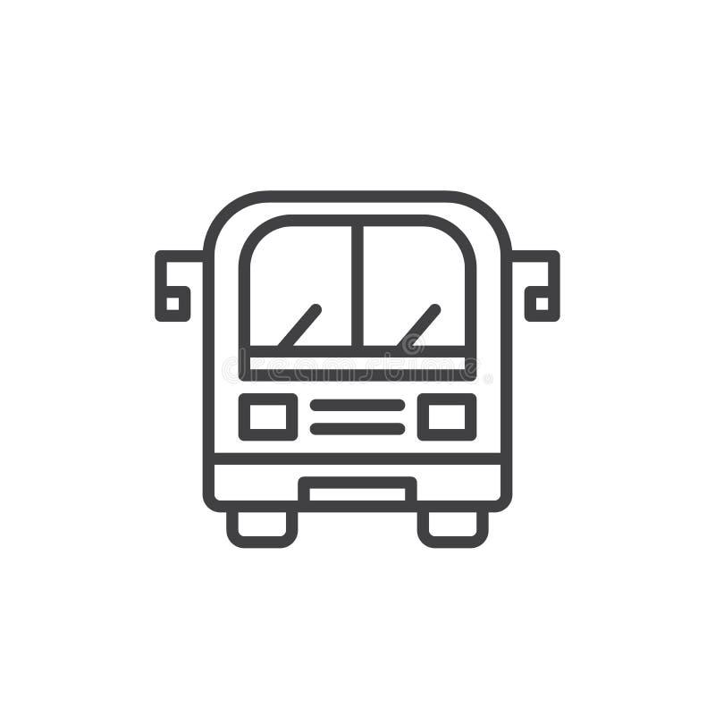 公共汽车线路象 皇族释放例证