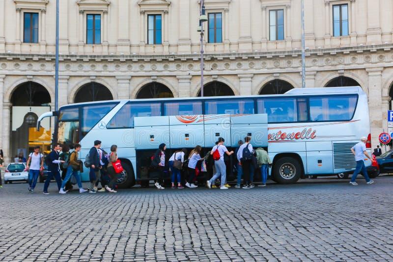 公共汽车罗马-意大利 图库摄影