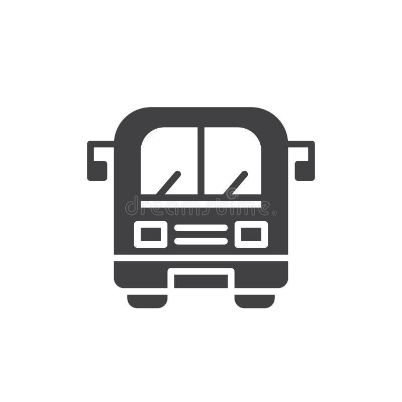 公共汽车象传染媒介 库存例证