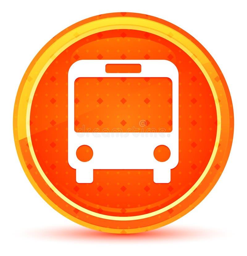 公共汽车象自然橙色圆的按钮 库存例证