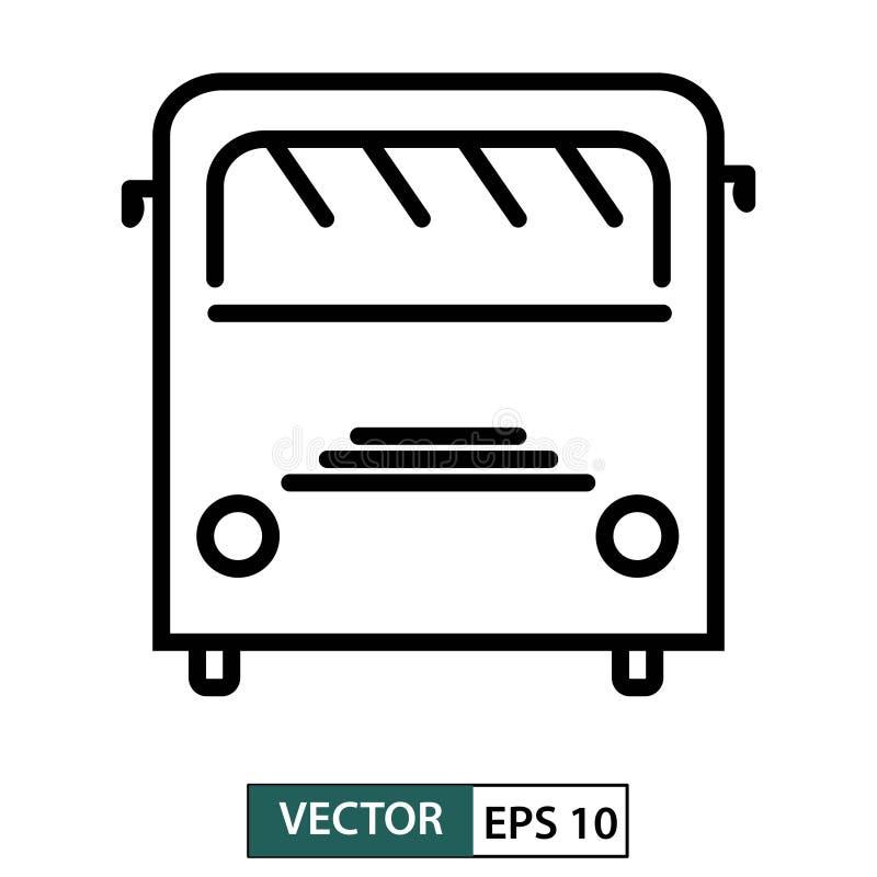 公共汽车象,标志,平的设计隔绝在白色 r 库存例证