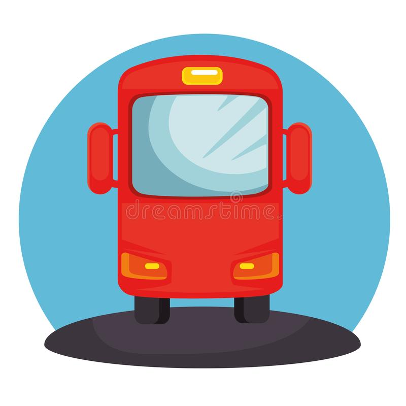 公共汽车运输公众象 库存例证