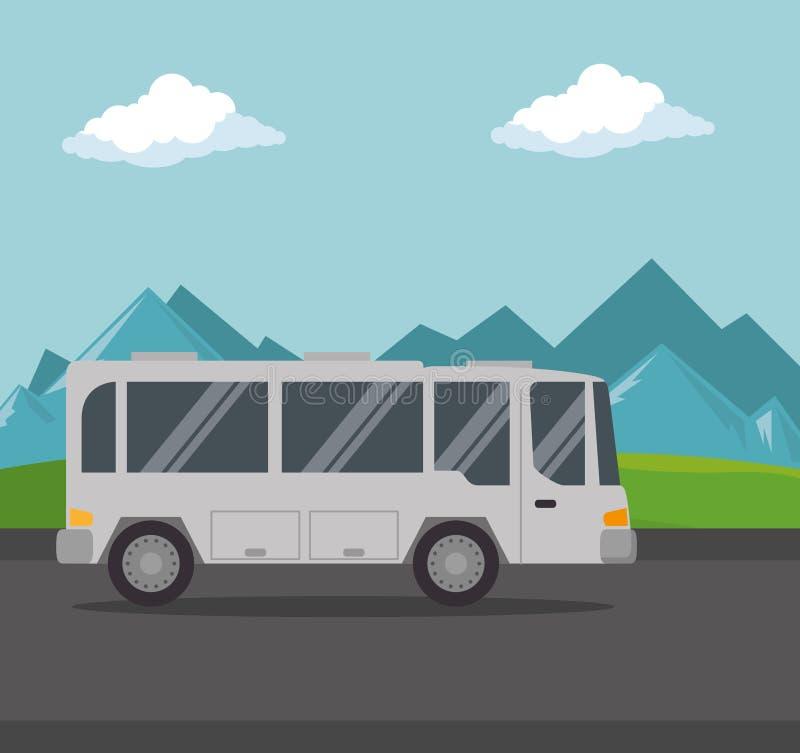 公共汽车运输公众象 向量例证