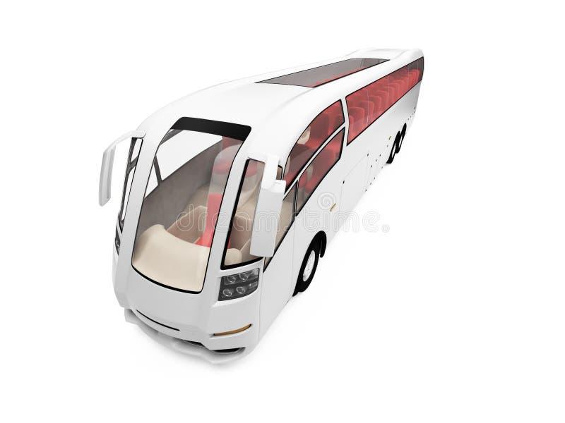 公共汽车远期查出的视图 皇族释放例证