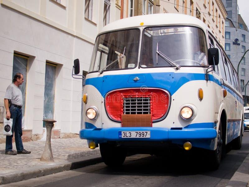 公共汽车退伍军人 免版税库存图片