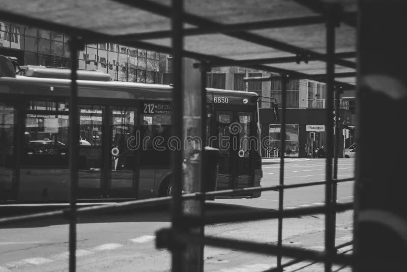 公共汽车通过的布拉索夫  免版税库存照片