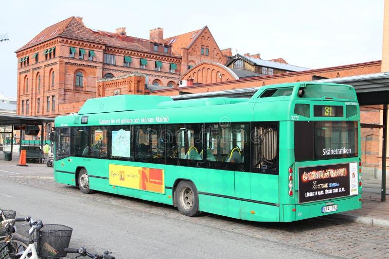 公共汽车靠气体发动的运输veolia 免版税库存图片